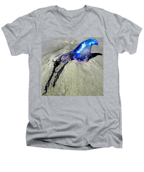 Beached Jellyfish 000 Men's V-Neck T-Shirt