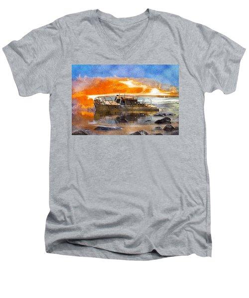 Beached Wreck Men's V-Neck T-Shirt