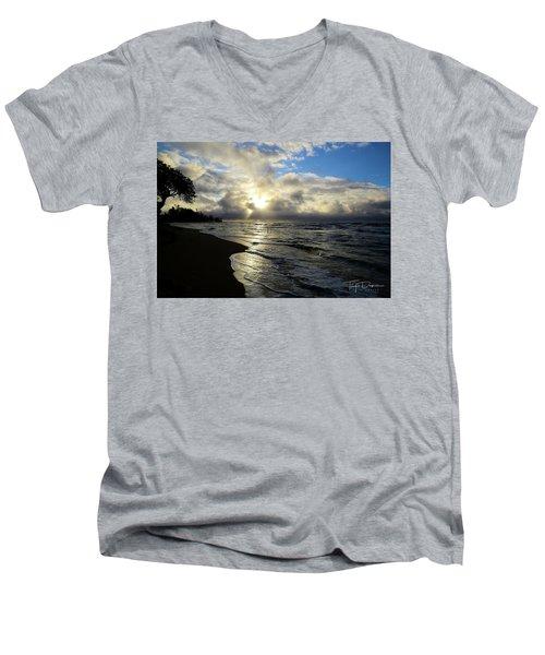 Beachy Morning Men's V-Neck T-Shirt