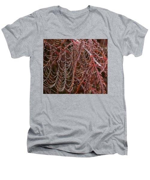 Beads Of Raindrops Men's V-Neck T-Shirt