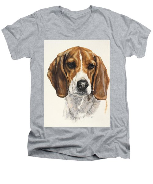 Beagle Men's V-Neck T-Shirt