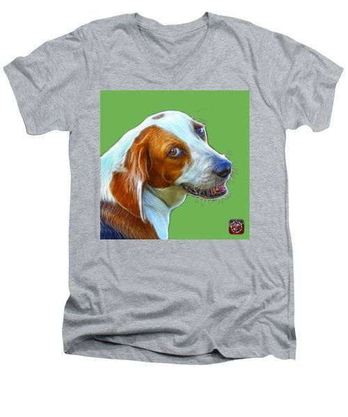 Beagle Dog Art- 6896 -wb Men's V-Neck T-Shirt