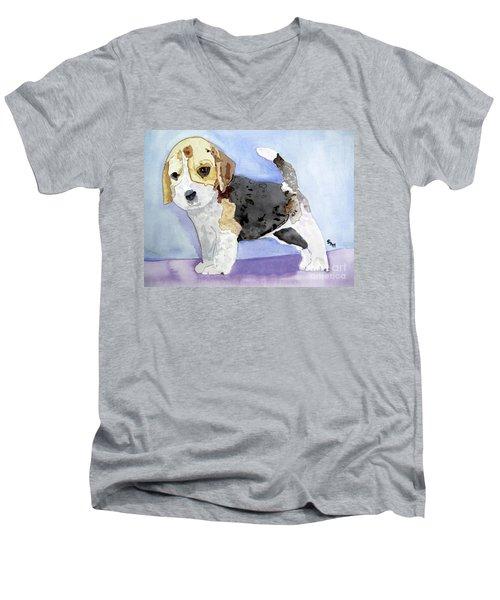Beagle Pup Men's V-Neck T-Shirt