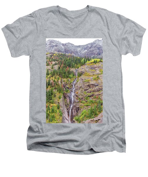 Bear Creek Falls Men's V-Neck T-Shirt