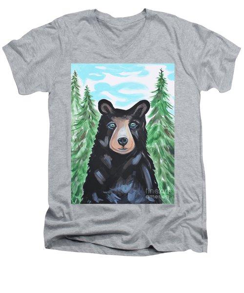 Bear In The Woods Men's V-Neck T-Shirt