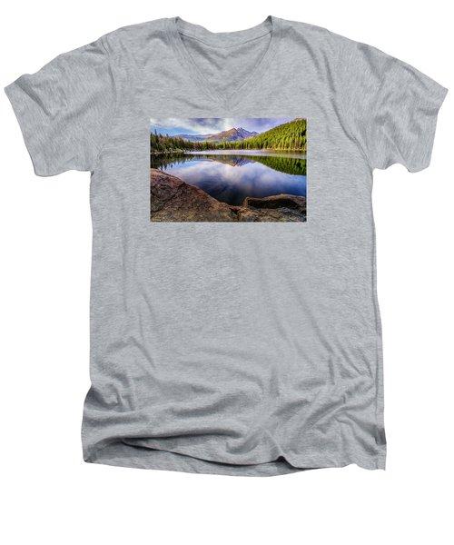 Bear Lake 3 Men's V-Neck T-Shirt by Mary Angelini