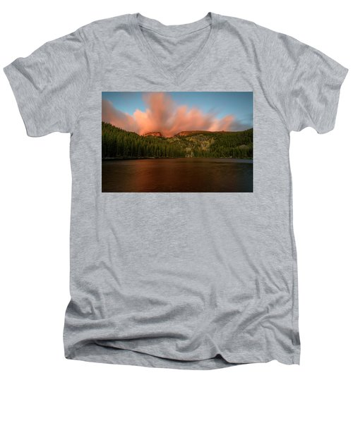 Bear Lake's Hallett Peak #1 Men's V-Neck T-Shirt