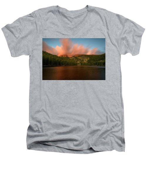 Bear Lake's Hallett Peak #1 Men's V-Neck T-Shirt