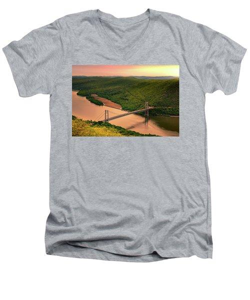 Bear Mountain Bridge Men's V-Neck T-Shirt