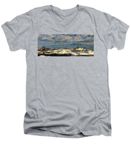 Bear Tooth Mountain Range Men's V-Neck T-Shirt