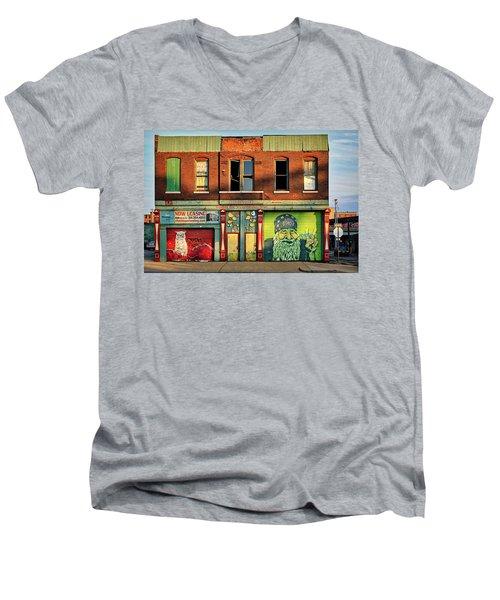 Beardy Mcgreen Men's V-Neck T-Shirt