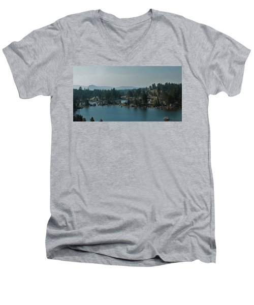 Beartooth Pond At 10,000 Feet Men's V-Neck T-Shirt