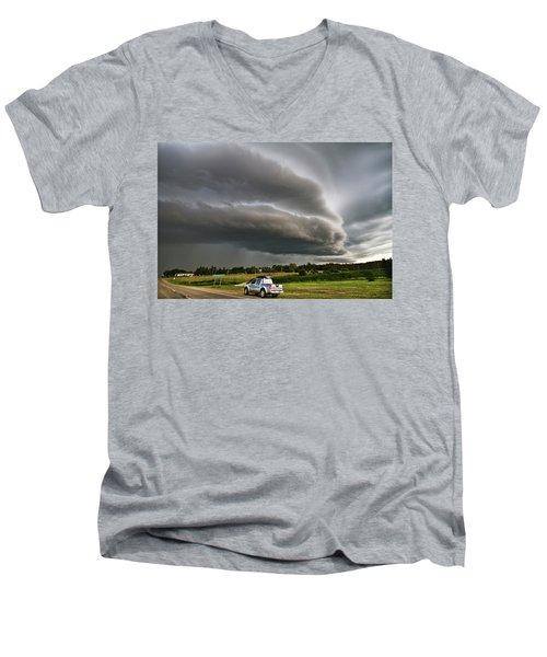 Beast Over Yorkton Men's V-Neck T-Shirt