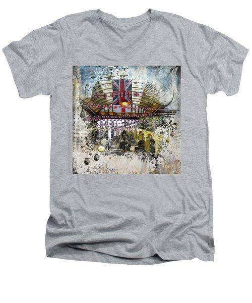 Beating Heart Men's V-Neck T-Shirt by Nicky Jameson