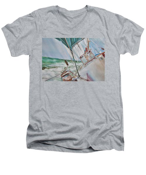 Beating Windward Men's V-Neck T-Shirt