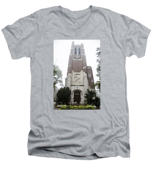Beaumont Tower In The Fog  Men's V-Neck T-Shirt