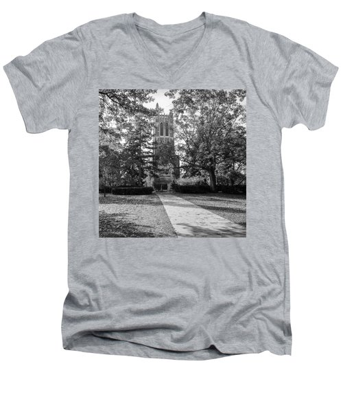 Beaumont Tower Men's V-Neck T-Shirt by Larry Carr