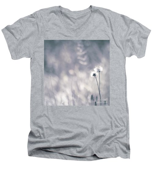 Men's V-Neck T-Shirt featuring the photograph Beaute Des Champs - 0101 by Variance Collections