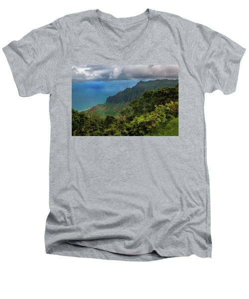 Beautiful And Illusive Kalalau Valley Men's V-Neck T-Shirt