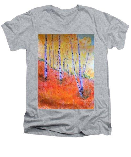 Beautiful Birches Men's V-Neck T-Shirt