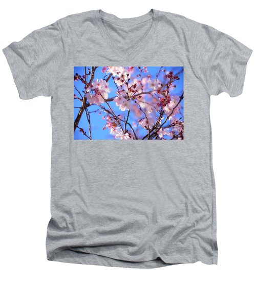 Beautiful Blossoms Blooming  For Spring In Georgia Men's V-Neck T-Shirt