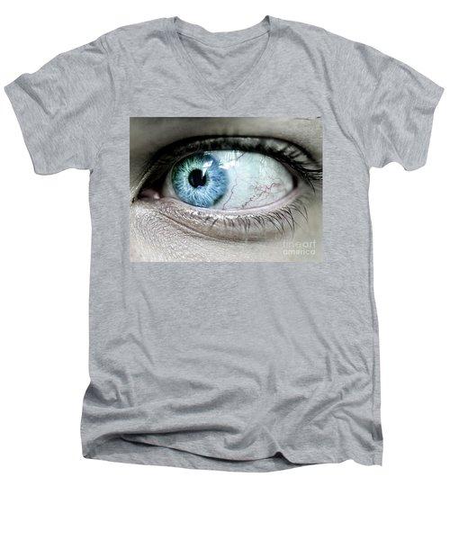 Beautiful Blue Eye Men's V-Neck T-Shirt