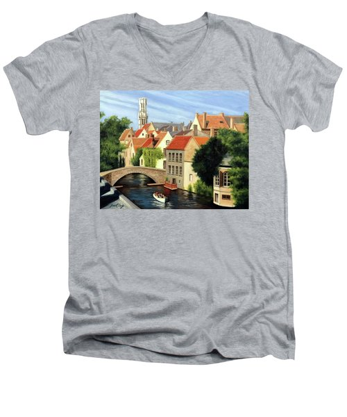 Beautiful Bruges Men's V-Neck T-Shirt