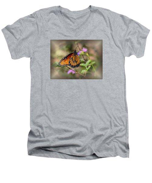 Beautiful Butterfly Men's V-Neck T-Shirt by Elaine Malott