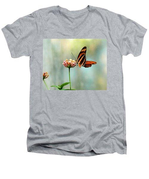Beautiful Butterfly Men's V-Neck T-Shirt by Laurel Powell