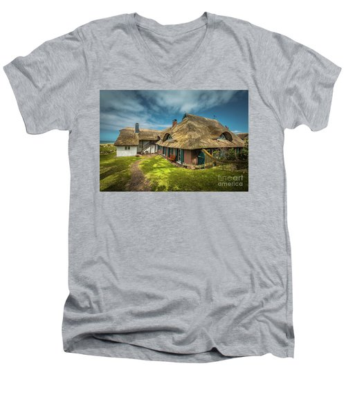 Beautiful Cottage Men's V-Neck T-Shirt by Eva Lechner