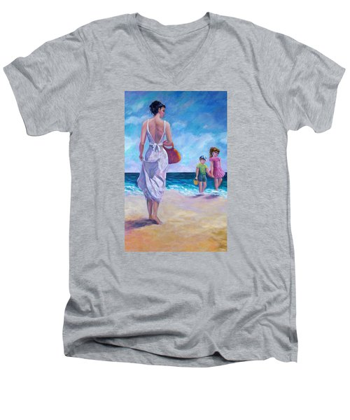 Beautiful Day At The Beach Men's V-Neck T-Shirt
