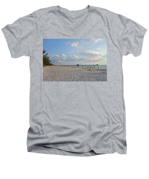 Beautiful Day On Naples Beach Naples Florida Men's V-Neck T-Shirt