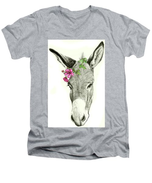Beautiful Donkey Men's V-Neck T-Shirt