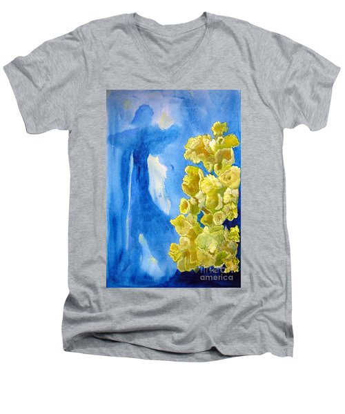 Men's V-Neck T-Shirt featuring the painting Beautiful Dreamer by Sandy McIntire