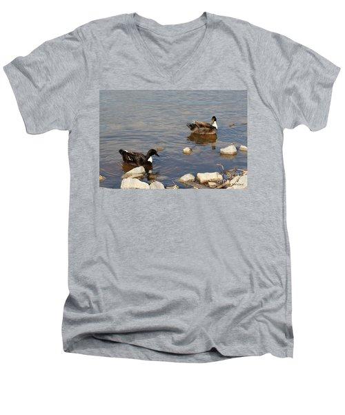 Beautiful Ducks Men's V-Neck T-Shirt
