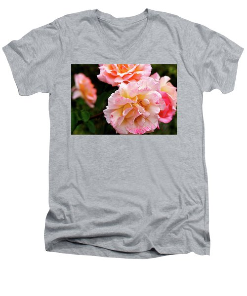 Beautiful Flowers In Cambridge Men's V-Neck T-Shirt