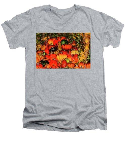 Beautiful Glass Pumpkins Men's V-Neck T-Shirt