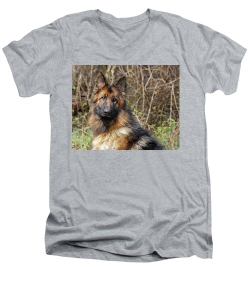 Men's V-Neck T-Shirt featuring the photograph Beautiful Jessy by Sandy Keeton