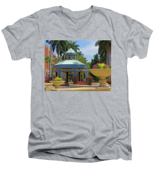 Beautiful Mizner Park In Boca Raton, Florida. #2  Men's V-Neck T-Shirt