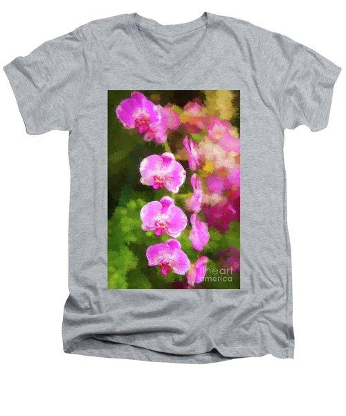 Beautiful Orchids Men's V-Neck T-Shirt