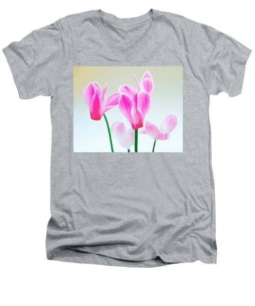 Beautiful Pink Men's V-Neck T-Shirt