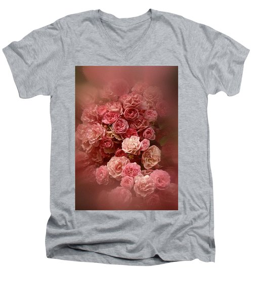 Beautiful Roses 2016 Men's V-Neck T-Shirt by Richard Cummings