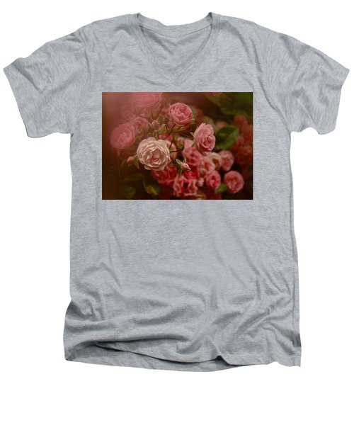 Beautiful Roses 2016 No. 2 Men's V-Neck T-Shirt by Richard Cummings