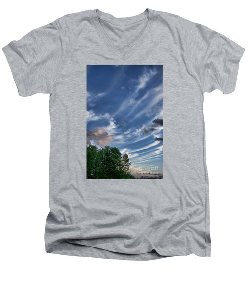 Men's V-Neck T-Shirt featuring the photograph Beautiful Sky by Alana Ranney