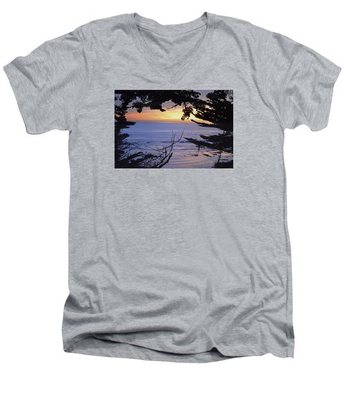 Beautiful Sunset Men's V-Neck T-Shirt by Alex King