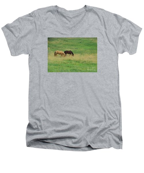 Men's V-Neck T-Shirt featuring the photograph Beautiful by Yumi Johnson