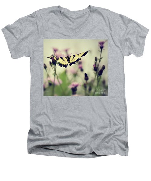 Men's V-Neck T-Shirt featuring the photograph Beauty And Grace  by Kerri Farley