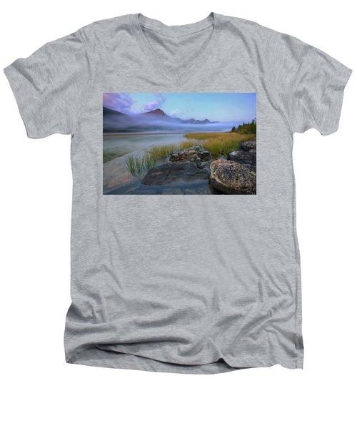 Beauty Creek Dawn Men's V-Neck T-Shirt by Dan Jurak