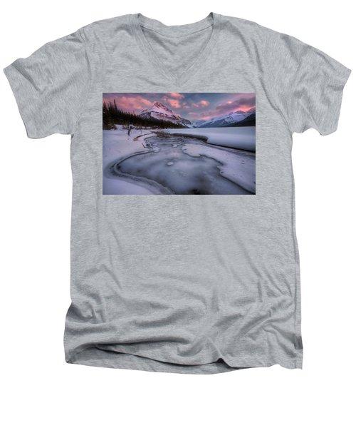 Beauty Creek, Jasper National Park Men's V-Neck T-Shirt