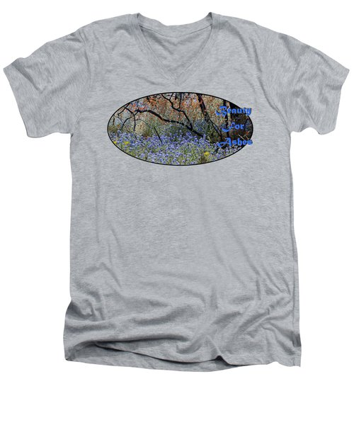 Beauty For Ashes Men's V-Neck T-Shirt